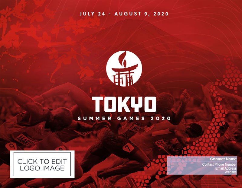 Travel Agent Summer Games White Label Flyer