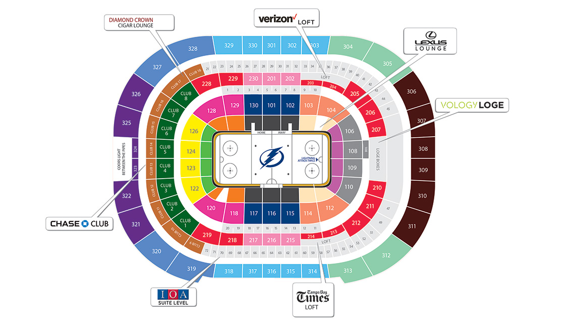 tampa bay seating chart
