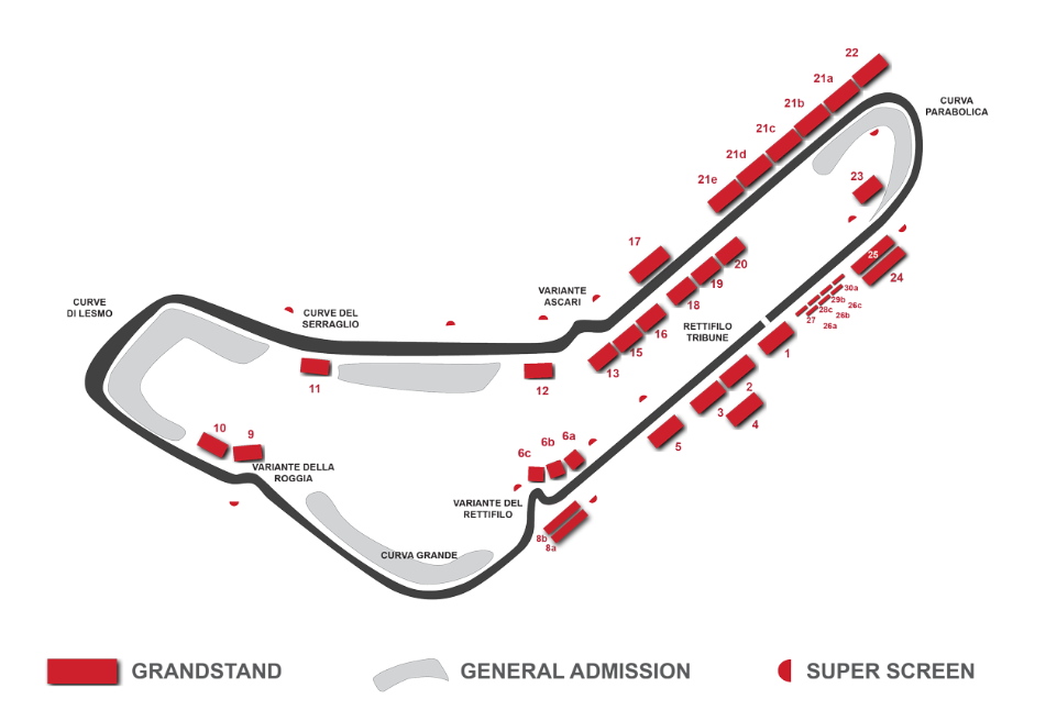 autodromo national seating chart