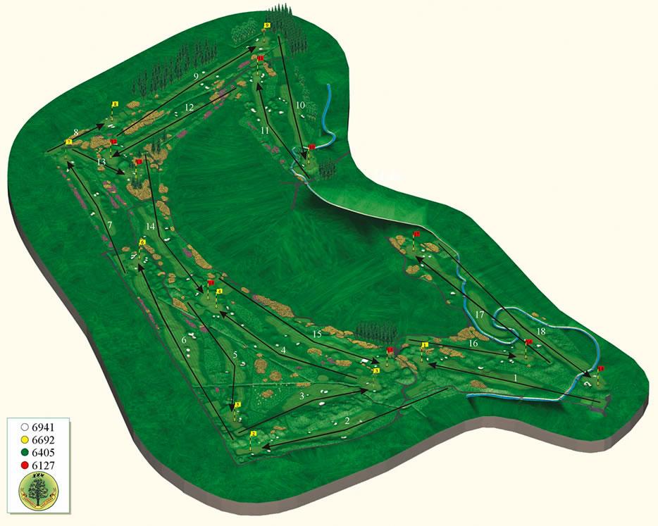 carnoustie golf links map