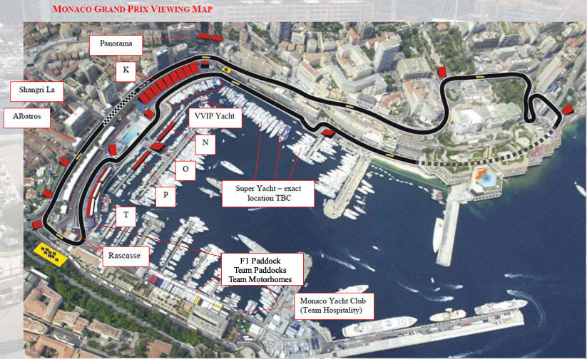 monaco grand prix course map