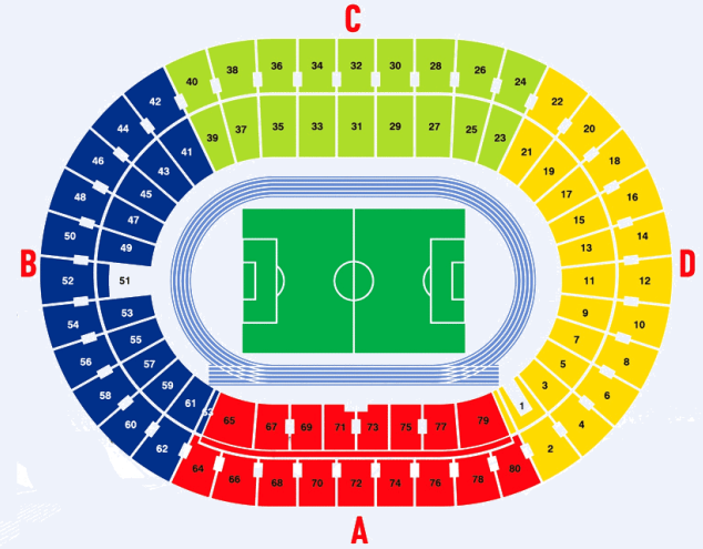 olympic stadium seating chart