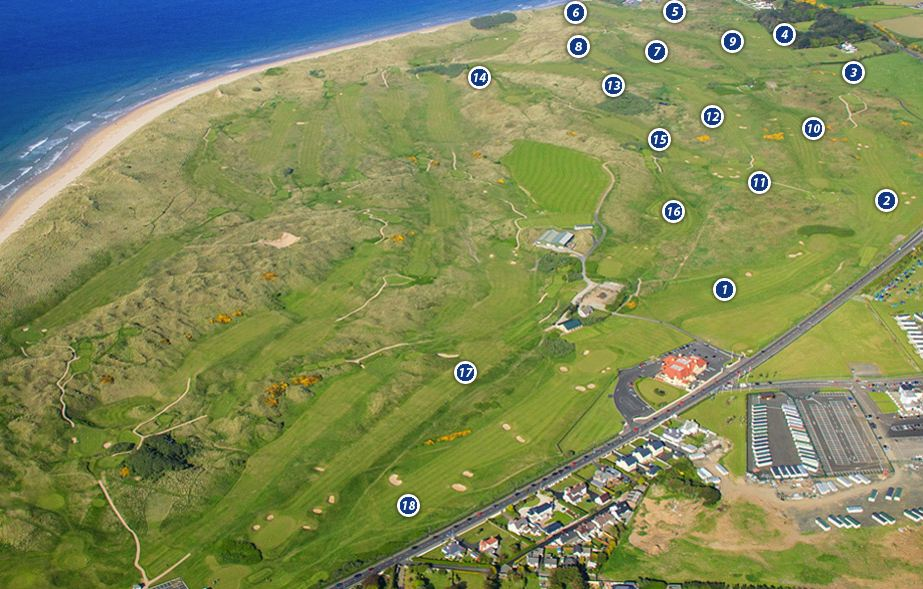 carnoustie golf links map