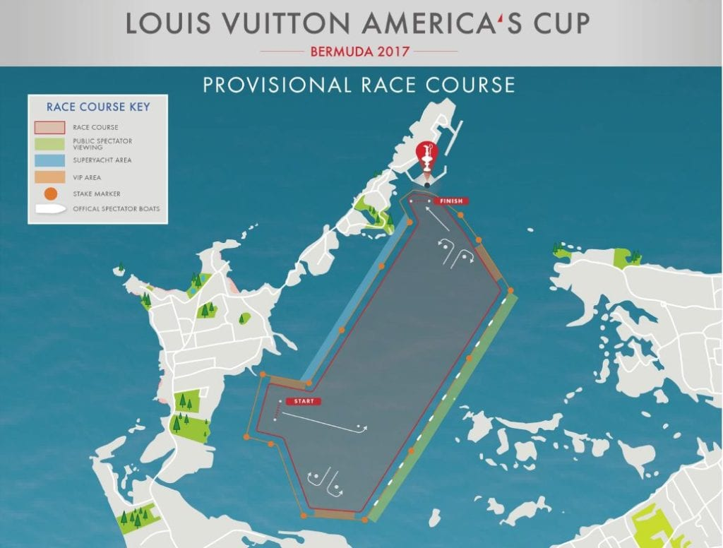 Race Map Of America.America S Cup Race Viewing Grandstand Viewing Vip Spectator Boats