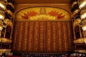 Bolshoi Theatre backstage tour curtain
