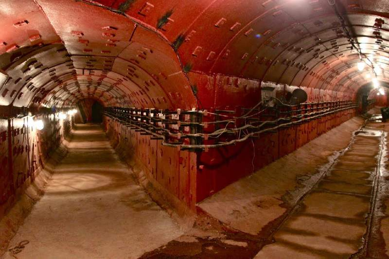 Russia Moscow Bunker 42 tunnel junction.RSZ-751628