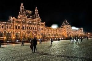 Moscow GUM evening
