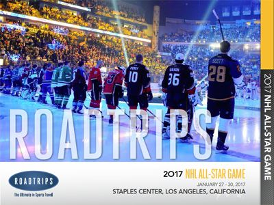 2017 NHL All-Star Game Brochure Los Angeles California
