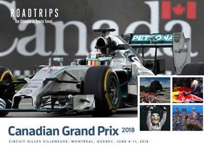 2018 Canadian Grand Prix Brochure Montreal Quebec