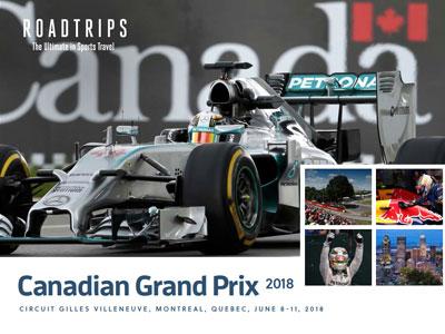 2018 Canadian Grand Prix Brochure Montreal Quebec