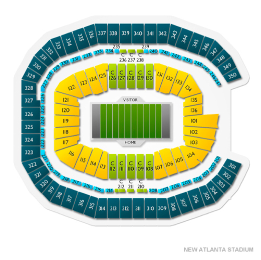 mercedez bens stadium seating chart for super bowl 2019