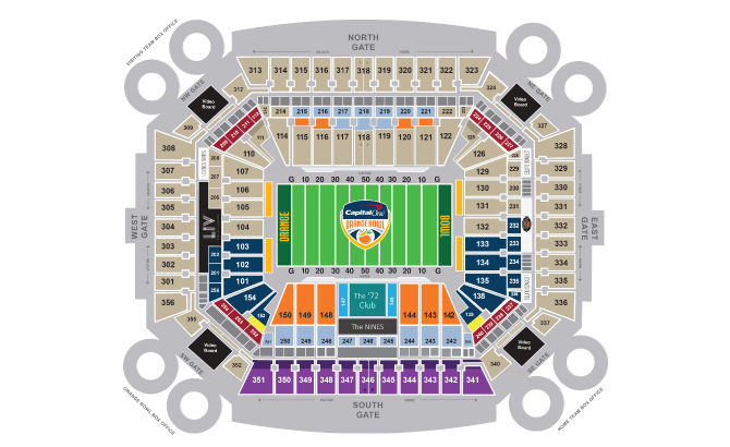 orange bowl seating
