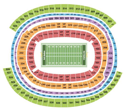 seating chart sofi stadium